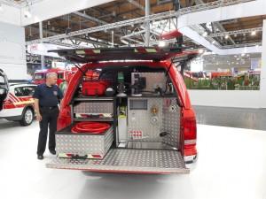 Interschutz 2015: Volkswagen Amarok als Vorauslöschfahrzeug. © spothits/Auto-Medienportal.Net