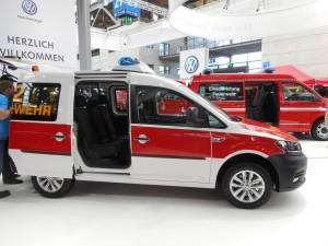 Interschutz 2015: Volkswagen Caddy mit Sondersignalanlage. © spothits/Auto-Medienportal.Net