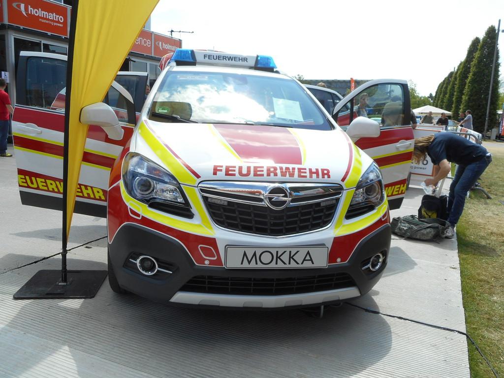 Interschutz 2015: Opel Mokka als Vorausrüstwagen. © spothits/Auto-Medienportal.Net