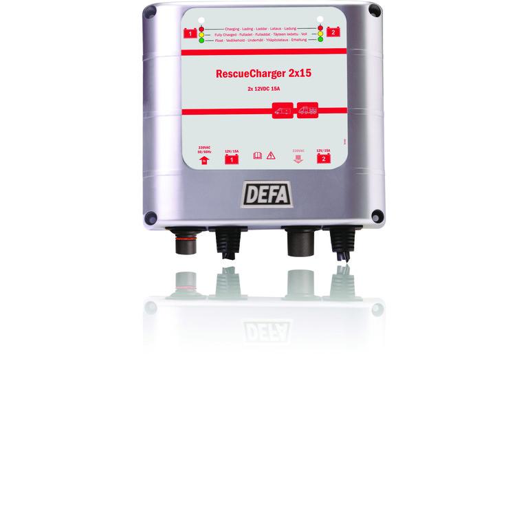 Interschutz 2015: Waeco bietet Batterielader zum Festeinbau. © spothits/Auto-Medienportal.Net/Waeco