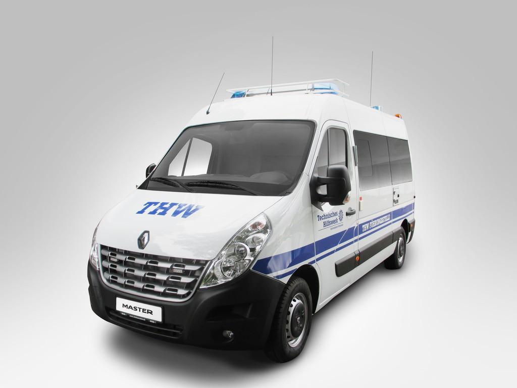 Renault Master fürs THW. © spothits/Auto-Medienportal.Net/Renault