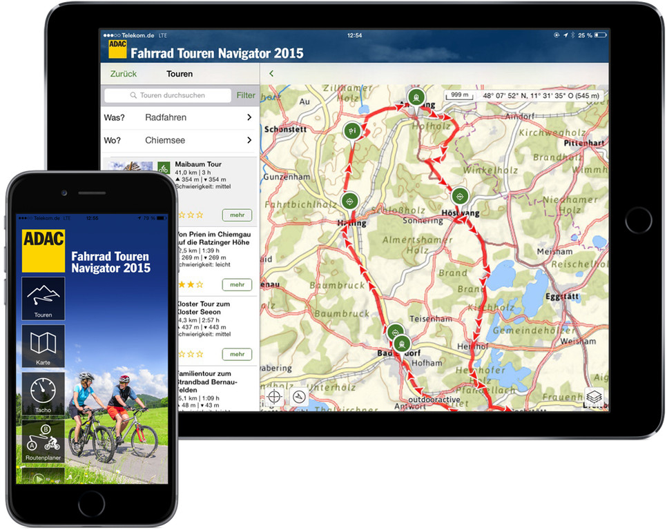 ADAC bietet Fahrradtouren-Navigator-App. © spothits/Auto-Medienportal.Net/ADAC