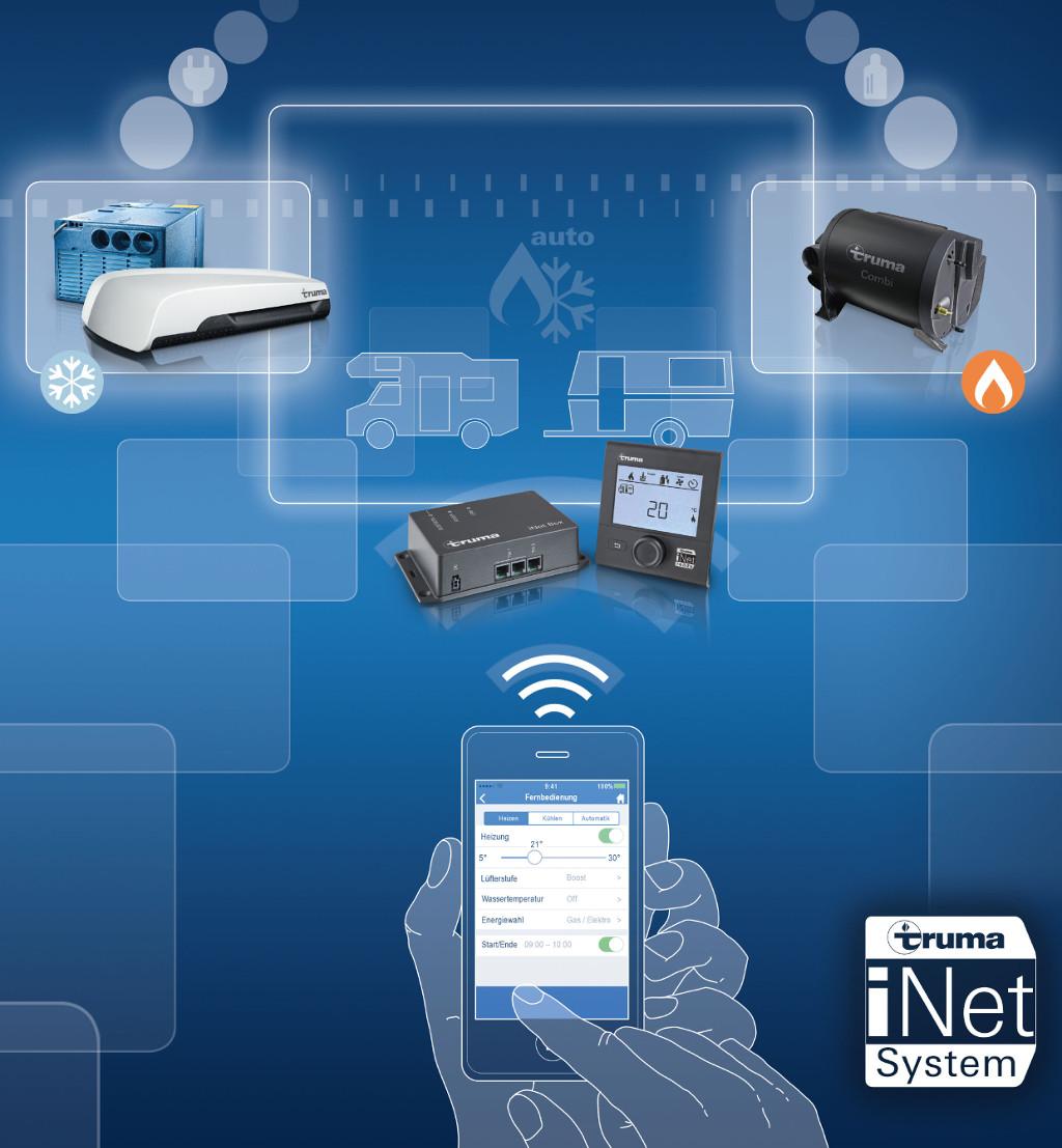 Truma iNet-System: Fernsteuerung für alle Geräte. © spothits/Truma