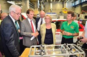 Ministerpräsident informiert sich über Kooperation mit Schaeffler. © spothits/Auto-Medienportal.Net/Schaeffler