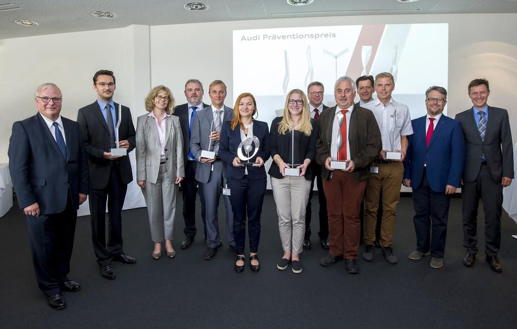 Audi verleiht Präventionspreis für sicheres Arbeiten. © spothits/Auto-Medienportal.Net/Audi