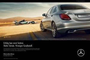 Mercedes-Benz C 350 e im Mittelpunkt der Plug-In Hybrid-Kampagne. © spothits/Auto-Medienportal.Net/Daimler