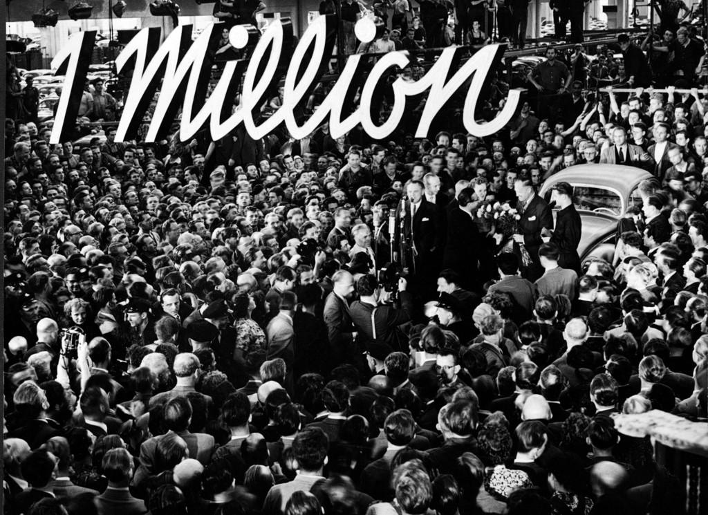 Vor 60 Jahren: Volkswagen feiert die erste Million . © spothits/Auto-Medienportal.Net/Volkswagen