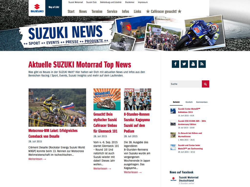 Suzuki mit neuem Internetangebot. © spothits/Auto-Medienportal.Net/Suzuki