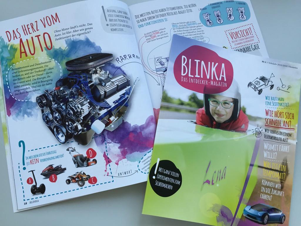 "Schülermagazin ""Blinka"" informiert über Auto-Berufe. © spothits/Auto-Medienportal.Net/Pro Motor"