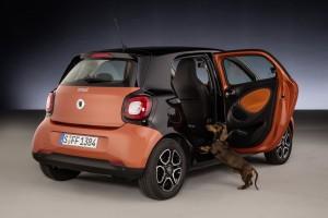 "Smart Forfour: ""Readyspace""-Sitze eignen sich auch für Hunde. © spothits/Auto-Medienportal.Net/Daimler"