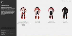 Ducati-Webseite für individuelle Motorradkombi. © spothits/Auto-Medienportal.Net/Ducati