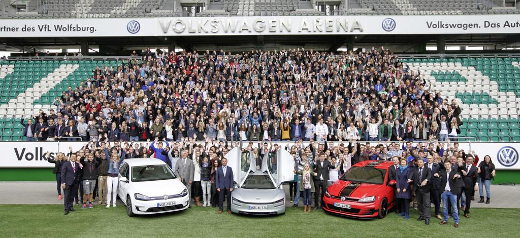 1587 neue Auszubildende bei Volkswagen. © spothits/ Auto-Medienportal.Net/Volkswagen