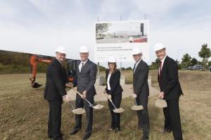 Spatenstich für neues Porsche-Zentrum. © spothits/Auto-Medienportal.Net/Porsche