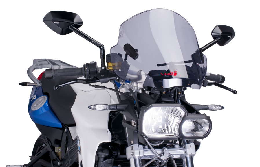 Wetterschutzscheibe Speeds Evolution montiert an BMW F800R. © spothits/Speeds Performance Parts