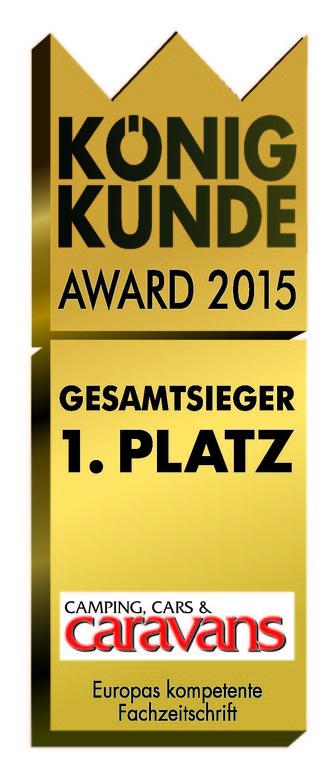 "Caravan-Salon 2015: ""König Kunde Award"" verliehen. © spothits/ Auto-Medienportal.Net/Dolde-Medien-Verlag"