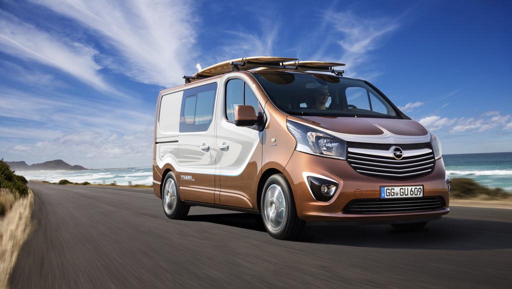 IAA 2015: Opel Vivaro Surf Concept für Freizeitaktivitäten. © spothits/Auto-Medienportal.Net/Opel