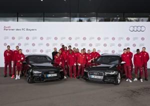 50 Audi für den FC Bayern. © spothits/Auto-Medienportal.Net/Audi