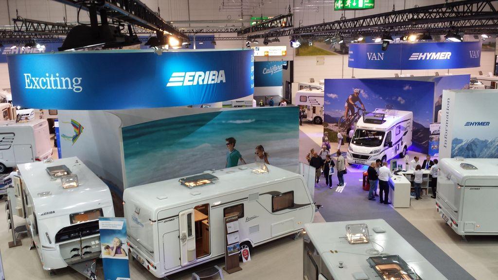 Hymer beendet Caravan Salon in Düsseldorf mit Absatzplus und startet erfolgreich in neue Saison. © spothits/Hymer