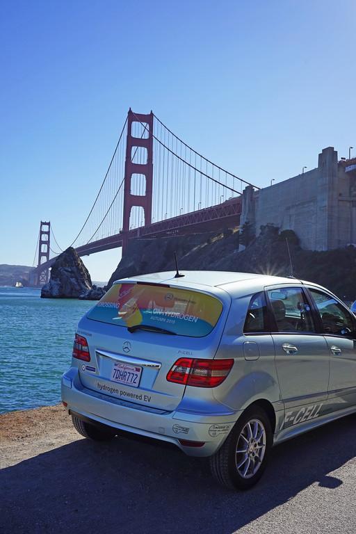 Mit Brennstoffzellen-Fahrzeugen durch Kalifornien. © spothits/Auto-Medienportal.Net/Daimler