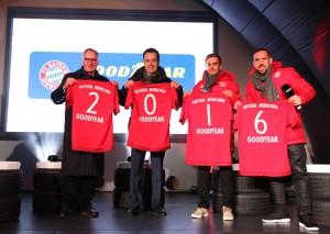 Der FC Bayern München rollt k0nftig auf Goodyear-Reifen. © spothits/Auto-Medienportal.Net/Goodyear