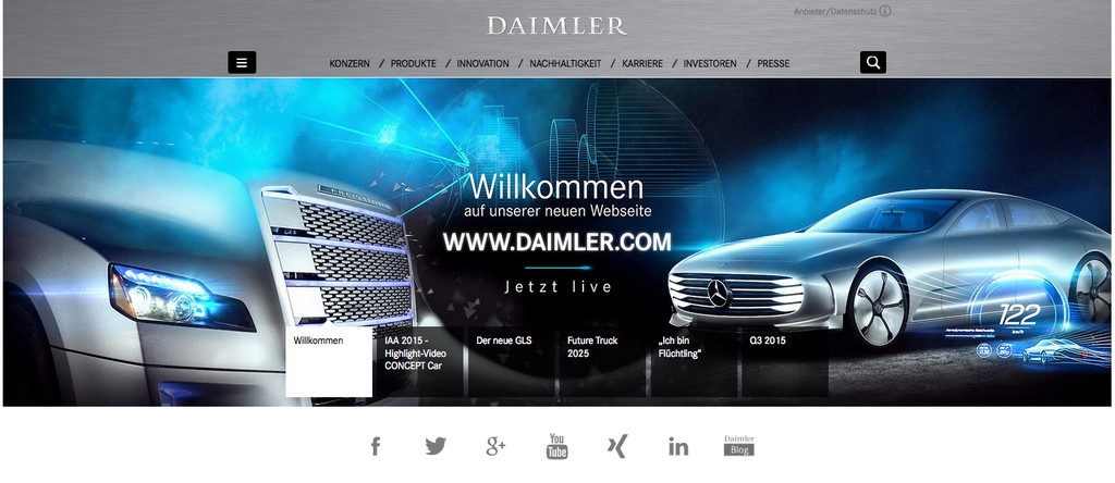 Daimler launcht neue Unternehmenswebseite. © spothits/Auto-Medienportal.Net/Daimler
