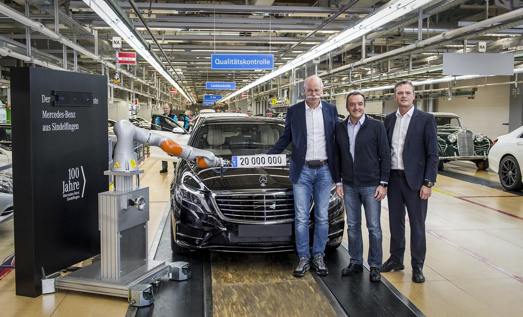 Mercedes-Benz-Werk Sindelfingen feiert 20-millionstes Auto. © spothits/Auto-Medienportal.Net/Daimler
