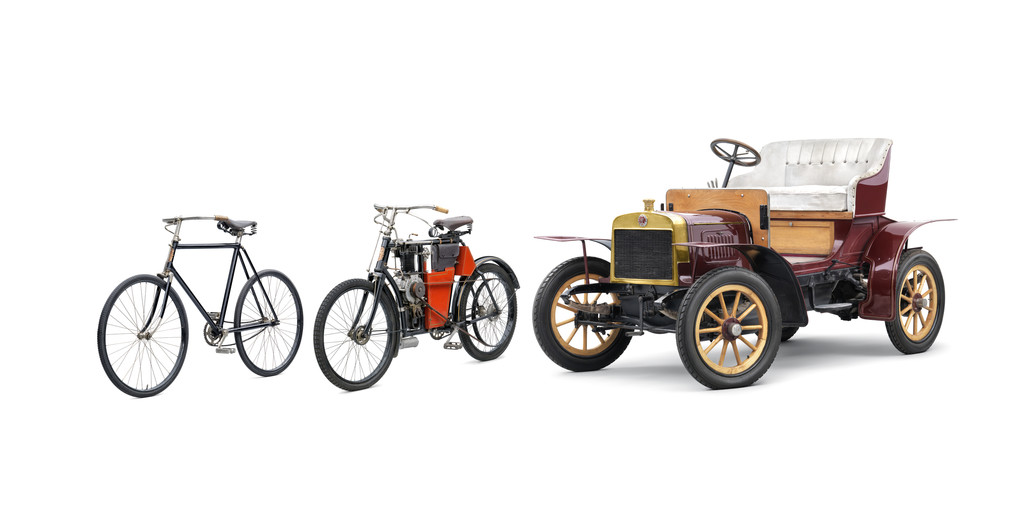 Im Rückspiegel: Mit Fahrrädern fing es vor 120 Jahren bei Skoda an. © spothits/Auto-Medienportal.Net/Skoda