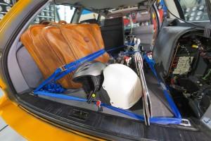 Gepäckstücke und Skiausrüstung können gefährlich werden. © spothits/Auto-Medienportal.Net/ADAC