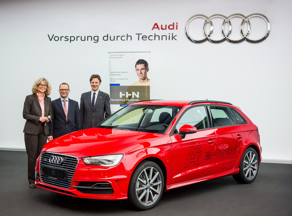 Audi spendet A3 E-Tron. © spothits/Auto-Medienportal.Net/Audi