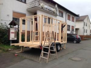 Tiny House: Acht Quadratmeter Wohn(t)raum auf Rädern. © spothits/Auto-Medienportal.Net/Medienagentur Hallenberger/Tischlerei Bock