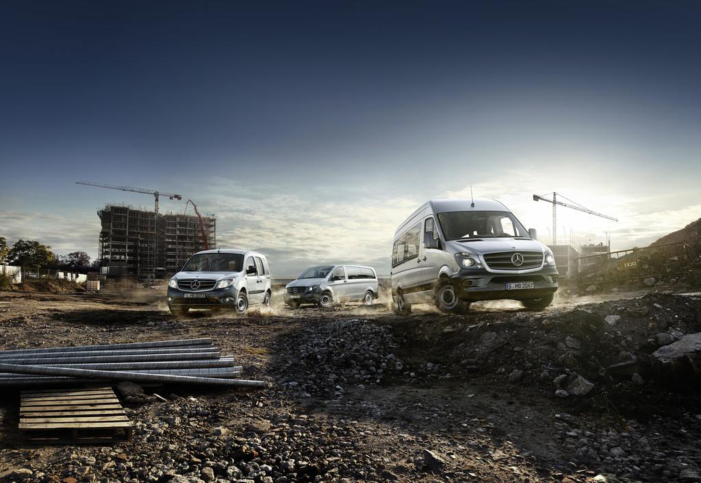 Mercedes-Benz steigert Transporterabsatz um neun Prozent. © spothits/Auto-Medienportal.Net/Daimler