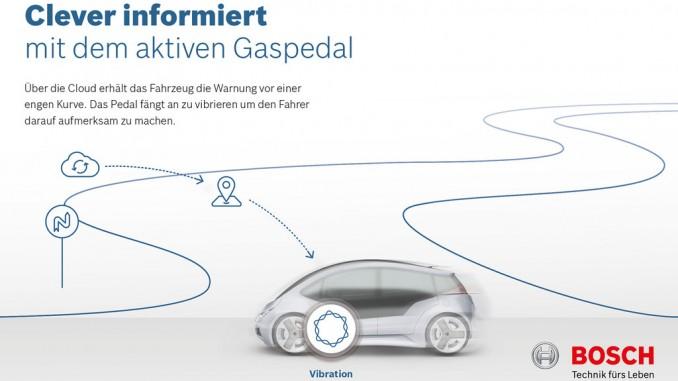 Bosch entwickelt aktives Gaspedal © spothits/Auto-Medienportal.Net/Bosch