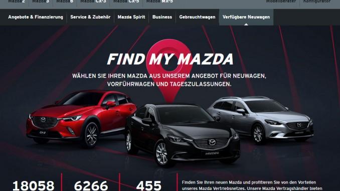 FindMyMazda: Aktuelle Mazda-Angebote im Netz. © spothits/Mazda