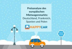 Studie: Mietwagenpreise in Europa. © spothits/Happycar