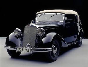 Im Rückspiegel: Mercedes-Benz 170 V – ein Urahn der E-Klasse. © spothits/Auto-Medienportal.Net/Daimler