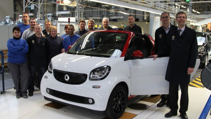 Produktion des Smart Cabrio ist angelaufen. © spothits/Auto-Medienportal.Net/Daimler