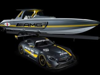 2200-PS-Boot im Stil des Mercedes-AMG GT3 . © spothits/Auto-Medienportal.Net/Daimler