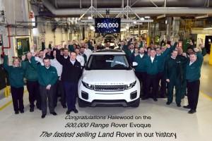 500 000. Range Rover Evoque rollt vom Band. © spothits/Auto-Medienportal.Net/Land Rover