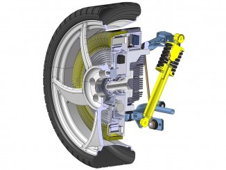 Für jedes Rad ein eigener Motor. © spothits/Auto-Medienportal.Net/Fraunhofer Institut