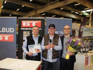 Bürstner Ixeo it 680 in Dänemark ausgezeichnet: Torben Jensen (Vendelbo Vans), Steen Nielsen (BT), Steen Rasmussen (Intercamp) (v.l.n.r.). © spothits/Bürstner