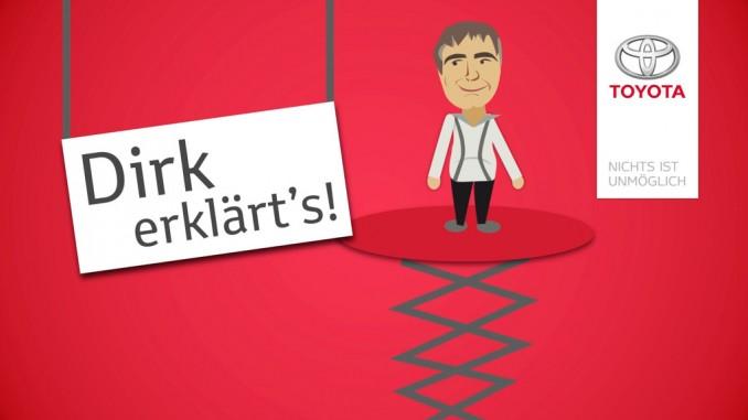 """Dirk erklärt's"" bei Toyota. © spothits/Toyota"
