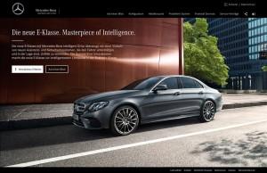 Mercedes-Benz startet Kampagne zur Markteinführung der neuen E-Klasse. © spothits/Daimler