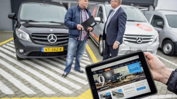 Mercedes-Benz Vans testet Online-Vertriebskanal in den Niederlanden. © spothits/Foto: Daimler