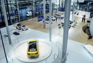 Gläserne Manufaktur eröffnet als Schaufenster für Elektromobilität und Digitalisierung. © spothits/Schaufenster für Elektromobilität und Digitalisierung in der Gläsernen Manufaktur. Foto: Volkswagen