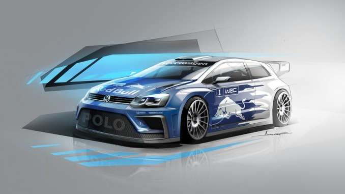 Volkswagen Polo R WRC bekommt 60 PS mehr. © spothits/Volkswagen Polo R WRC, Konzept./Foto: Volkswagen