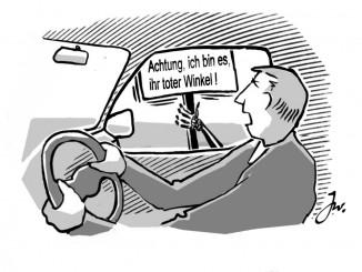 Ratgeber: Vorsicht vor dem toten Winkel. © spothits/Den toten Winkel halten Verkehrsexperten für eine der gefährlichsten Situationen im Straßenverkehr./Foto: Goslar Institut