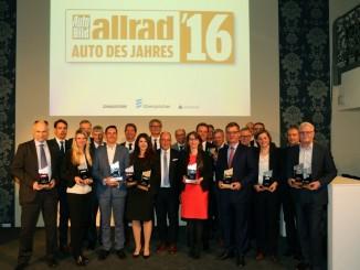 """Leser wählen die Allradautos des Jahres. © spothits/Siegerehrung für die """"Allradautos des Jahres 2016"""" in Frankfurt./Foto: Auto Bild Allrad"""