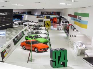 """Rare Exponate: Porsche-Museum blickt auf 40 Jahre Transaxle. © spothits/Sonderausstellung im Porsche-Museum: """"Die Transaxle-Ära. Vom 924 bis 928.""""/Foto: Porsche"""