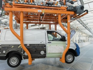 Volkswagen Nutzfahrzeuge: Mit 4,7 Prozent im Plus. © spothits/T6-Produktion im Volkswagen-Nutzfahrzeugwerk Hannover./Foto: Auto-Medienportal.Net/Volkswagen