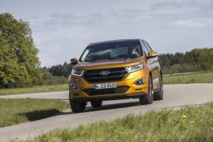 Jetzt kommt der Ford Edge auch hier um die Ecke. © spothits/Ford Edge./Foto: Jens Riedel